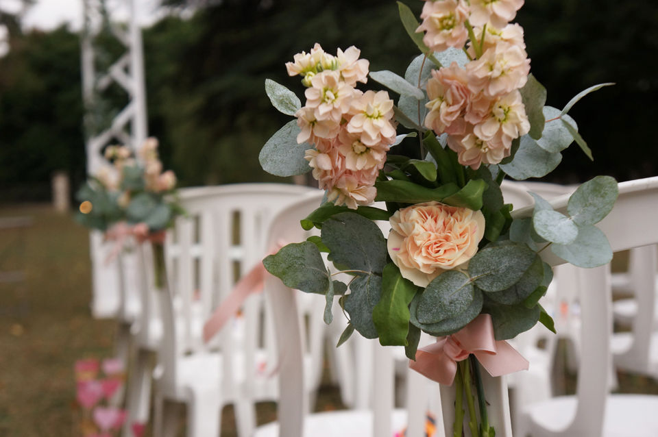 Mariage Peach & Gold Crédits : Dessine-moi une étoile (Design et Papeterie ) - Aude Rose (Fleurs)