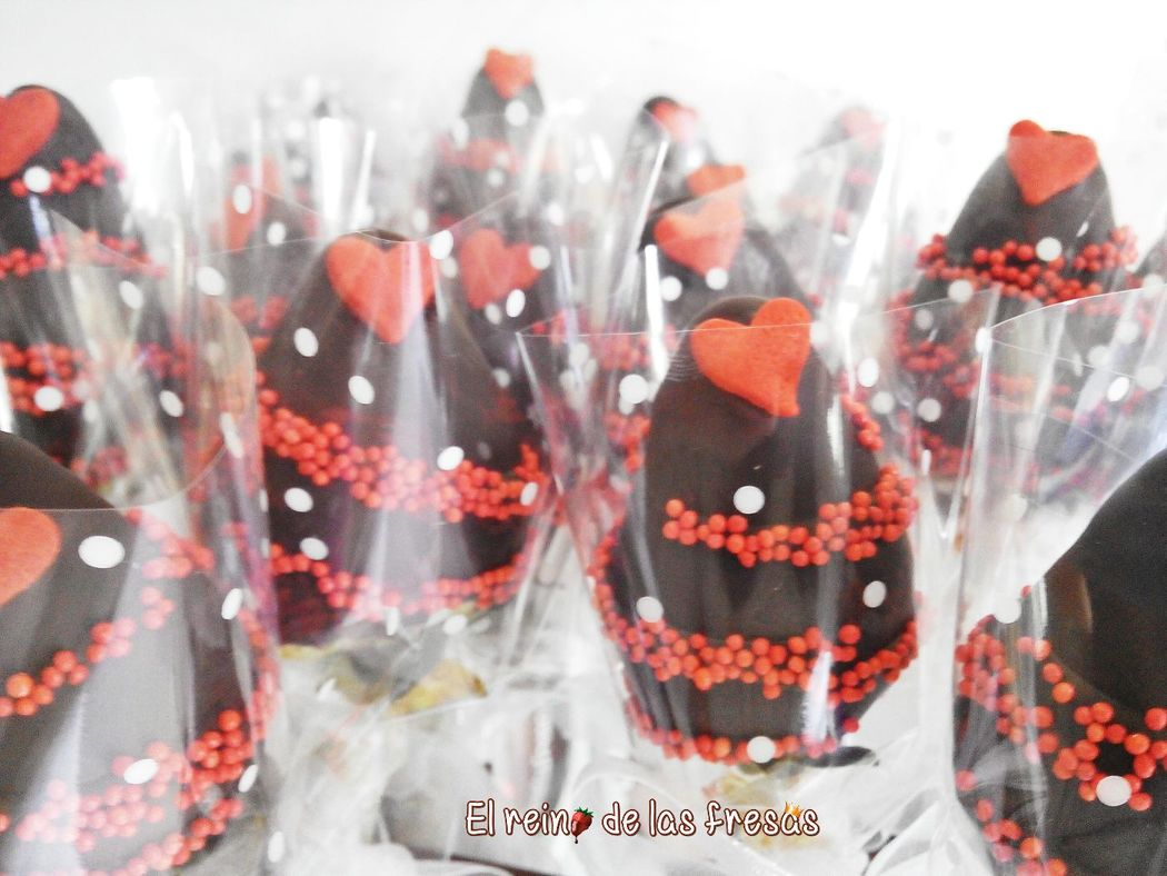 Fresas con chocolate individuales