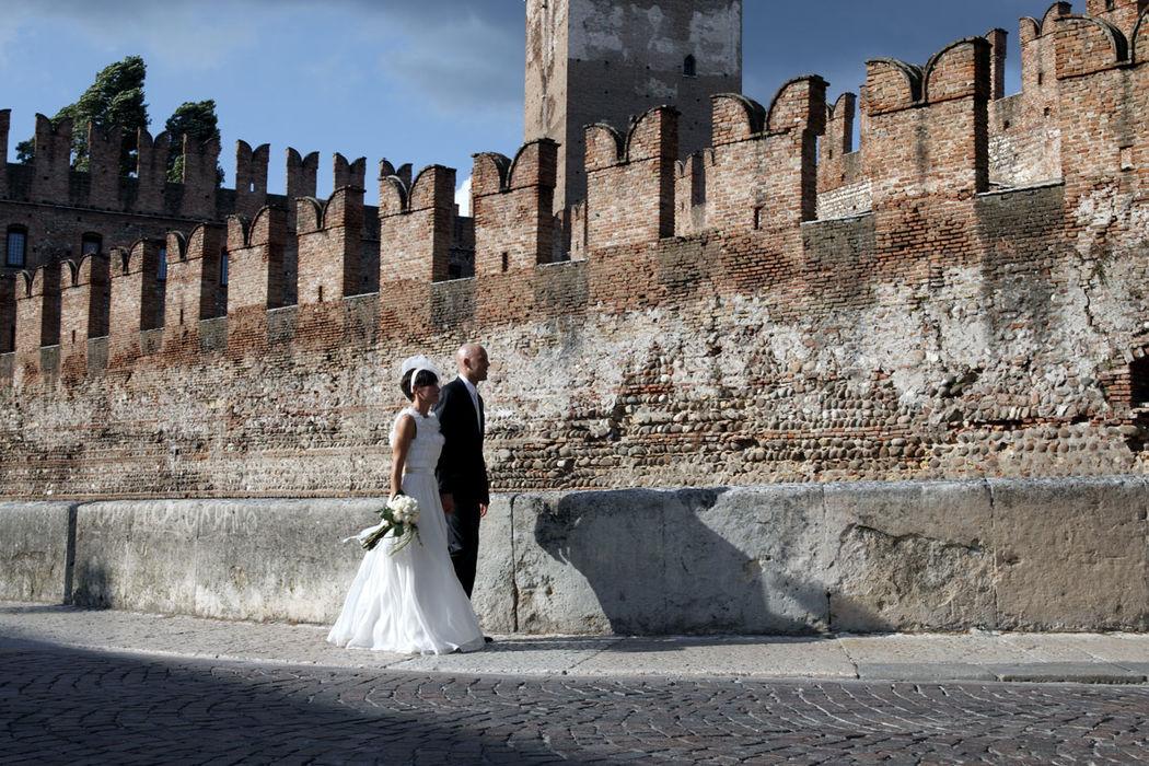 Abito firmato David Fielden in esclusiva per  Casa della Sposa Verona. Consulente sposa: Simonetta