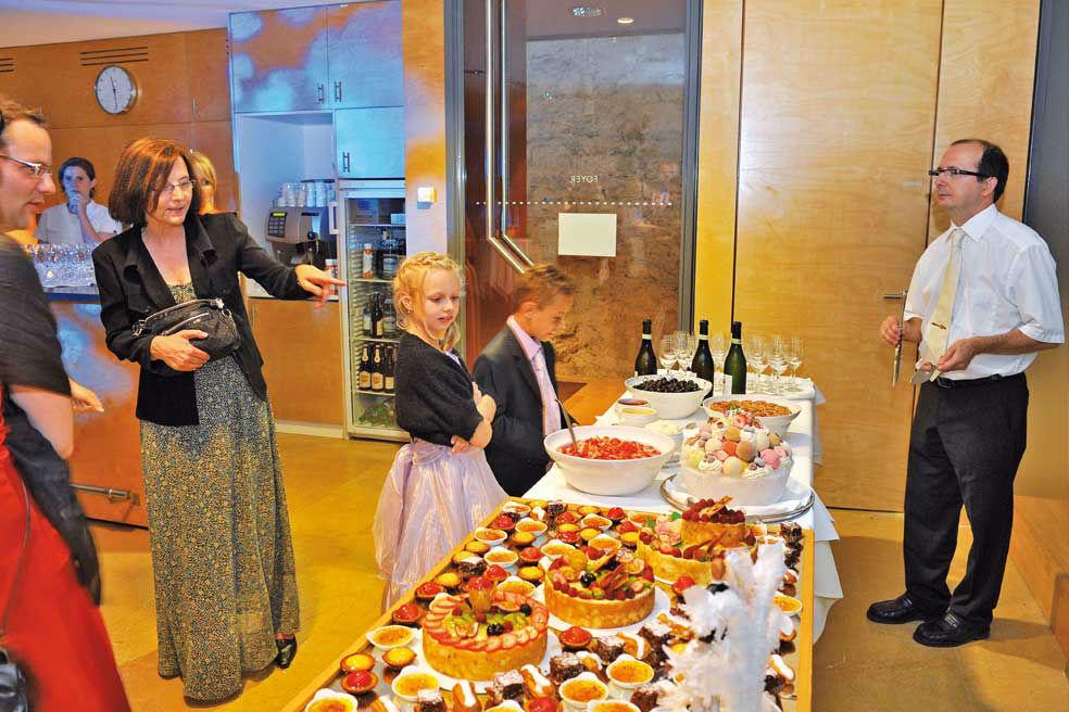 Beispiel: Buffet zur Hochzeit, Foto: Bad Schauenburg.
