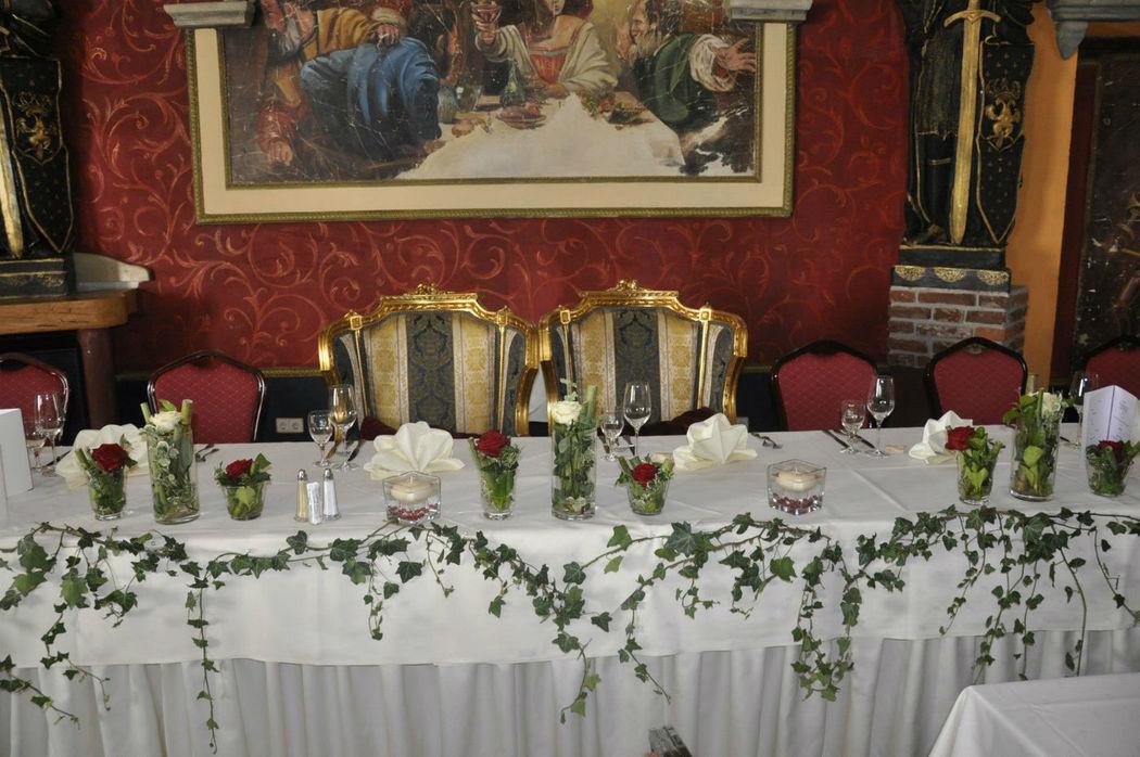 Beispiel: Tischdekoration, Foto: Burg Spielberg.