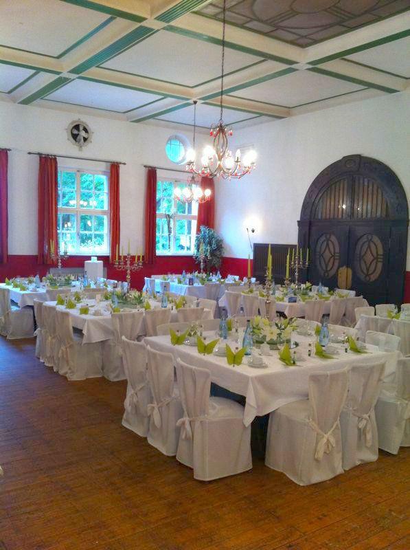 Beispiel: Großer Saal, Foto: Waldrestaurant Schiesshaus.