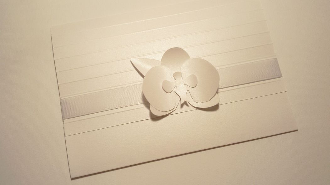 Invito di Nozze con orchidea