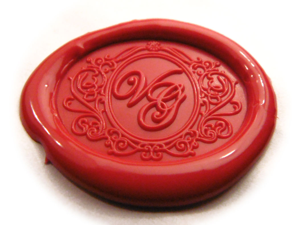 Sello de lacre rojo. Medida especial ovalado (30mm).  www.royallacre.com