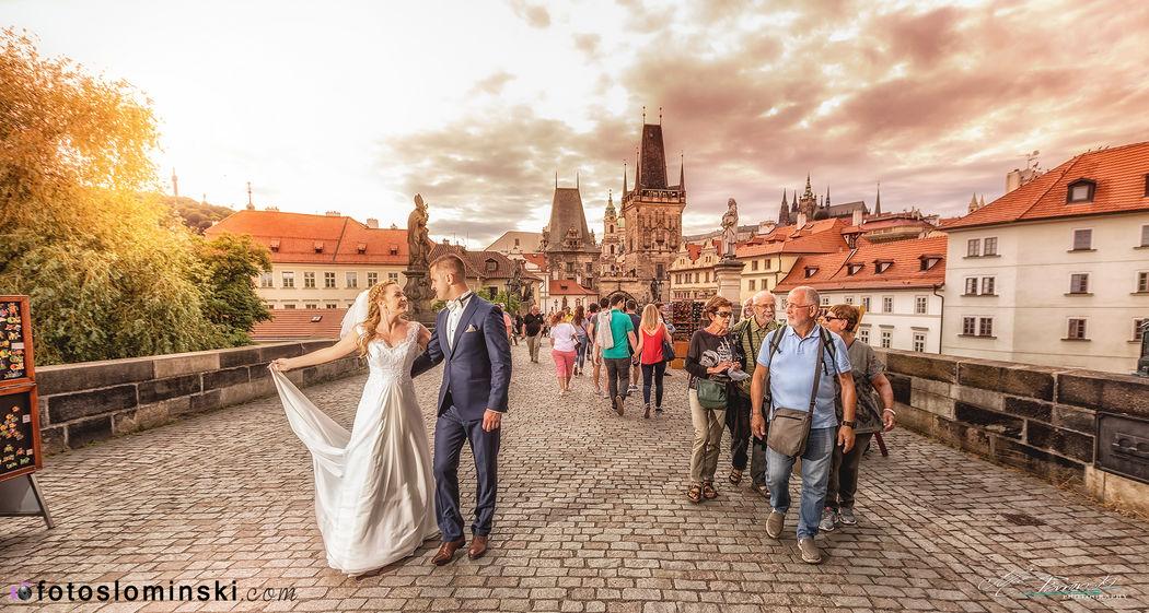 Cudowny Most Karola w Pradze - #ZdjęciaSłomińskiego - Fotografia ślubna / Artysta fotograf ślubny Wrocław.