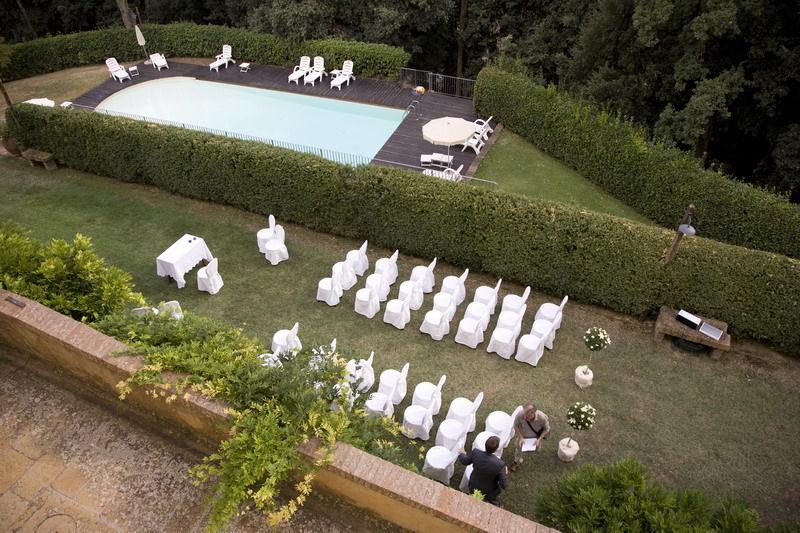 foto dall'alto della villa