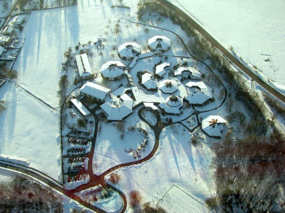 Beispiel: Luftaufnahme im Winter, Foto: Hohenwart Forum.
