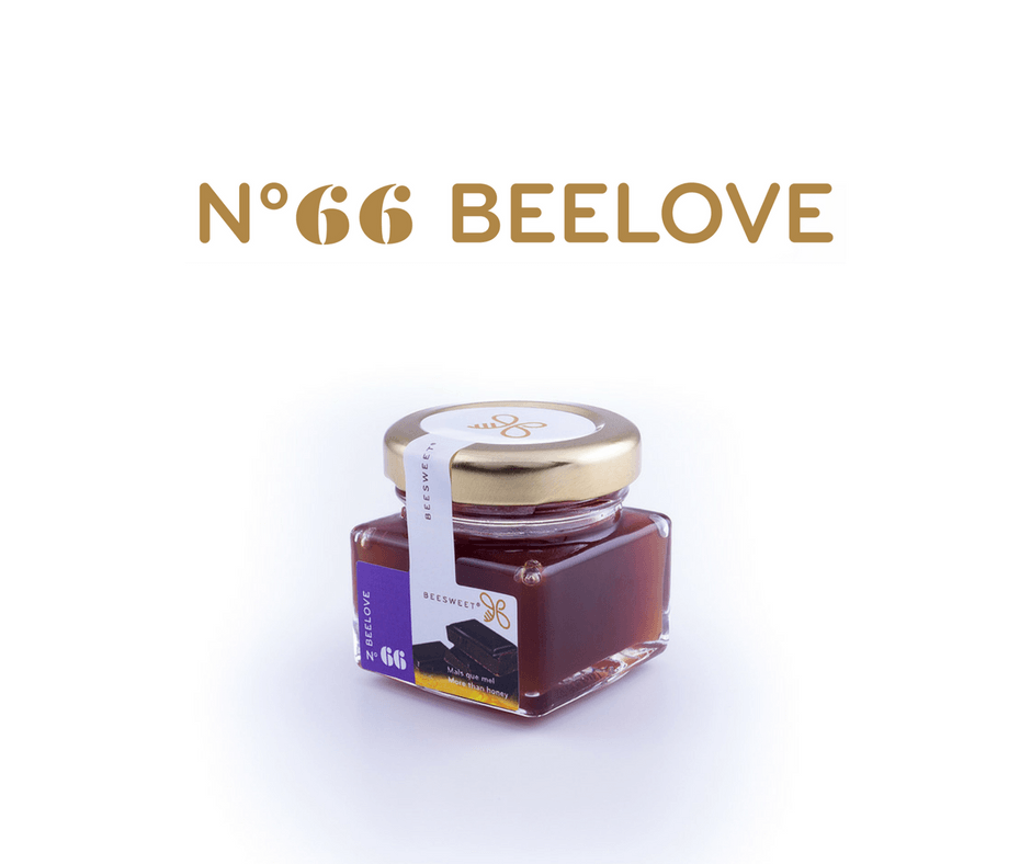 Requintado Frasco de 40gr de Mel aromatizado Beesweet - N. 66 Beelove - Sabor Chocolate
