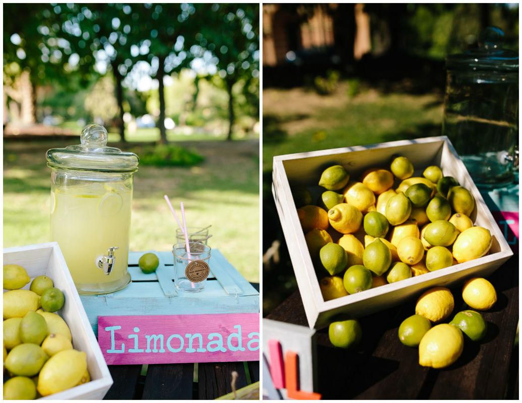 Bienvenida con limonada