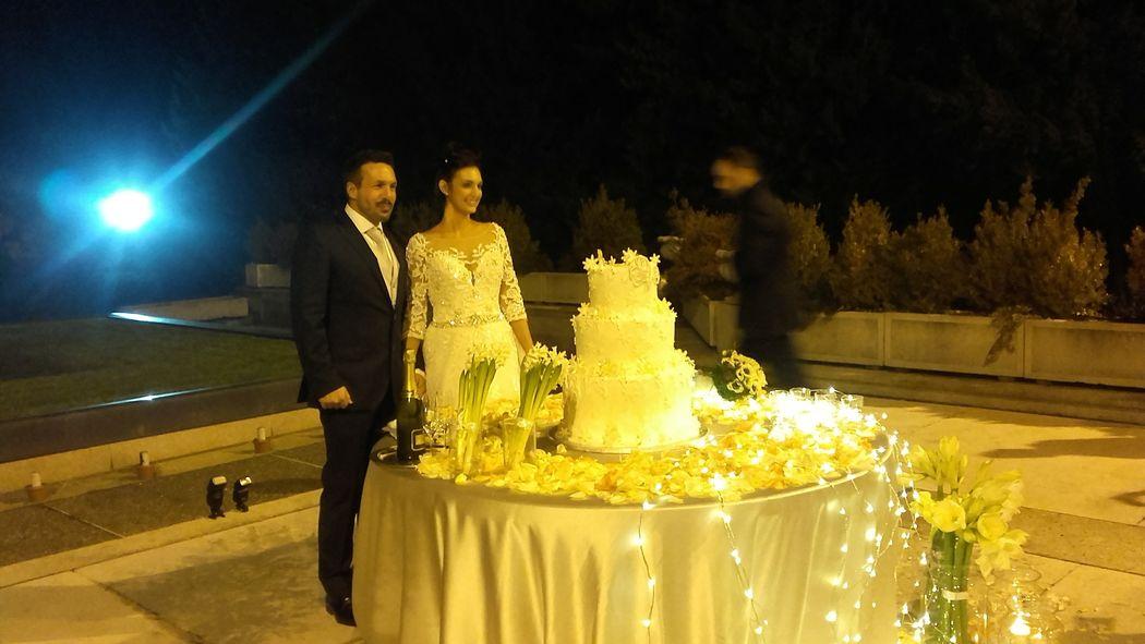 Taglio torta a Ville Ponti