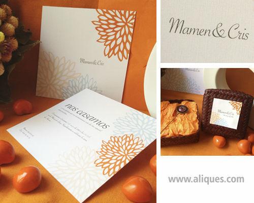 Invitación naranjas
