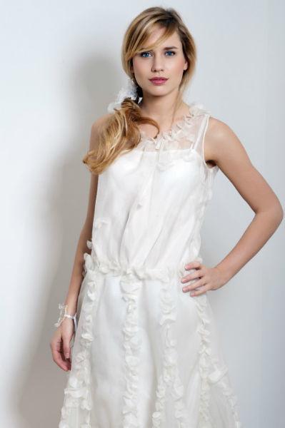 Robe de mariée à bretelles Odile Léonard