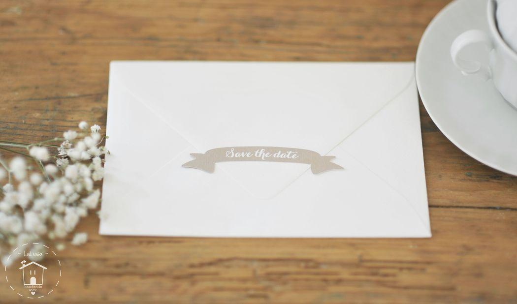 Chiudibusta carino e originale, perchè anche la busta di un invito deve essere curate nel dettaglio!