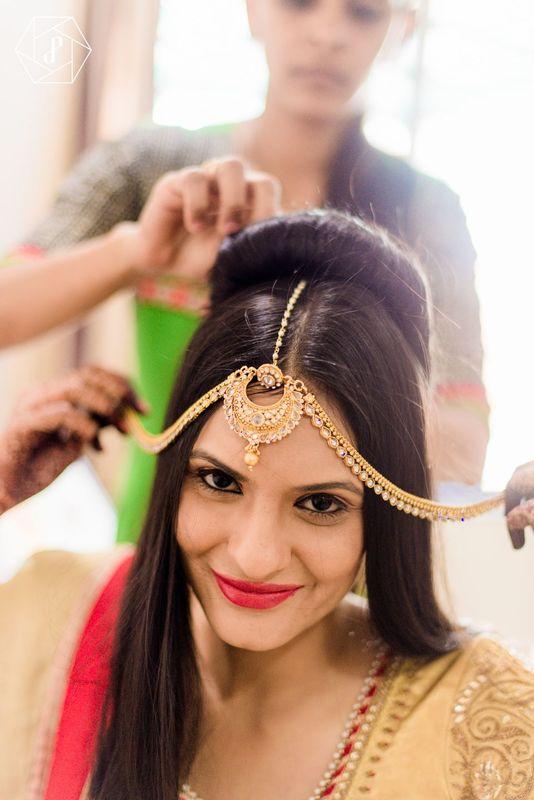 Boda en India  Arreglo de la novia