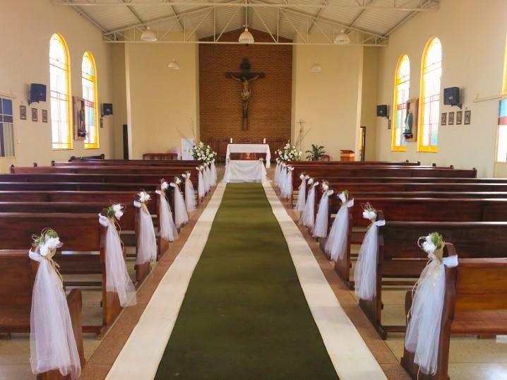 Decoracao rustica para igreja