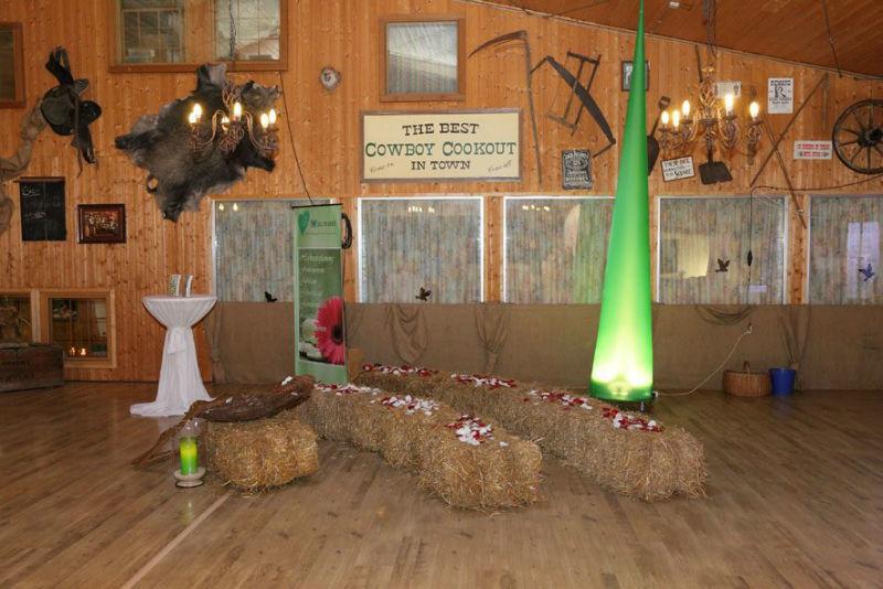 Beispiel: Hochzeitsdeko, Foto: Küffner Hof.