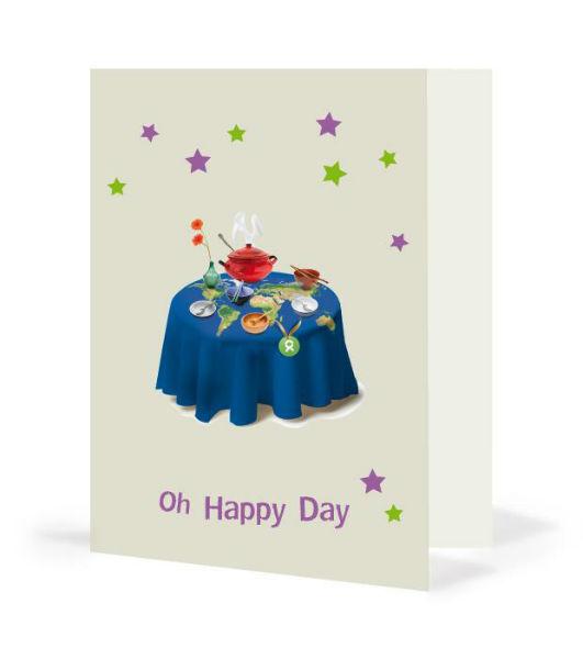 Geschenkkarte Gedeckter Tisch