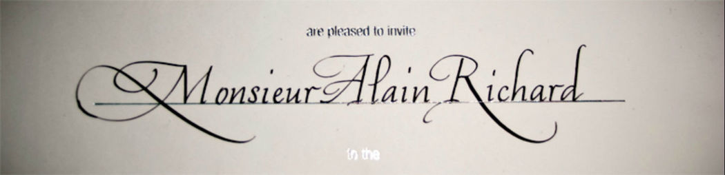 David Tournant Calligraphe