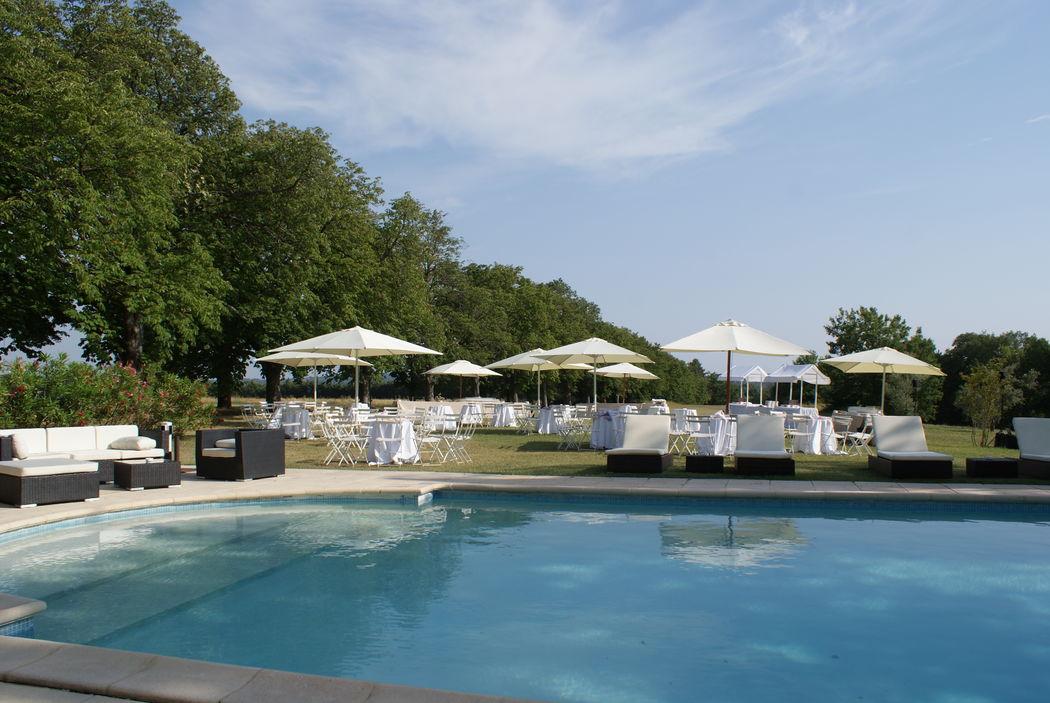 Château d'Alphéran - la piscine