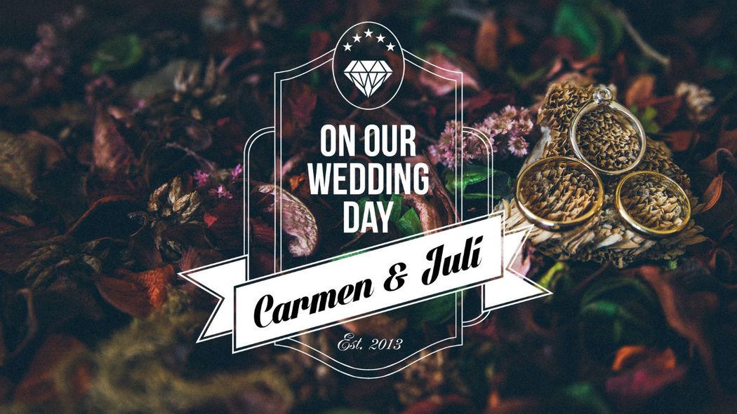 Portada del vídeo de la boda de Carmen y Juli.