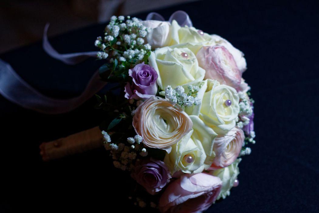 bouquet mariée romantique parme et rose