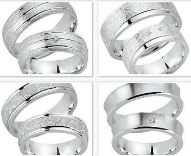 Beispiel: Trauringe - Silber, Foto: Juwelier Benjamin.