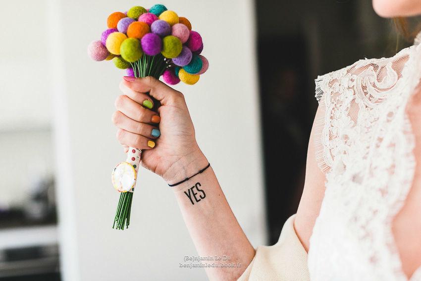 Mariage haut en couleur