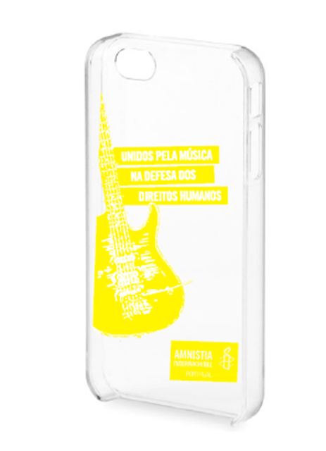 CAPA IPHONE  Capa Iphone 4/4S (transparente, letras amarelas) da Amnistia