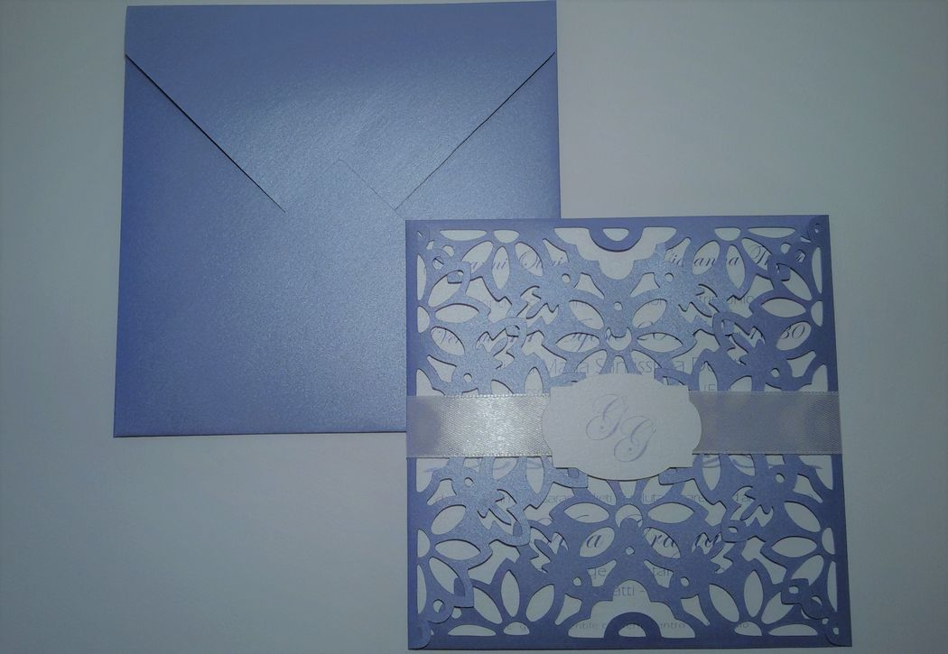 invito di nozze in carta pizzo