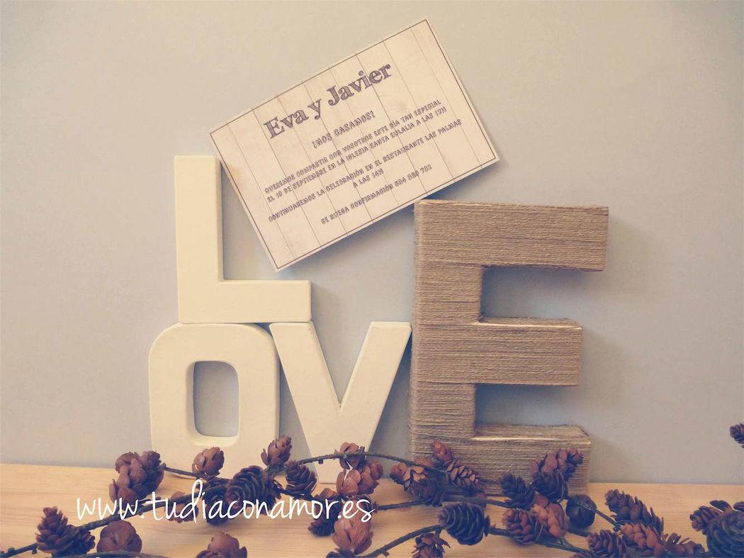 Invitación de boda madera