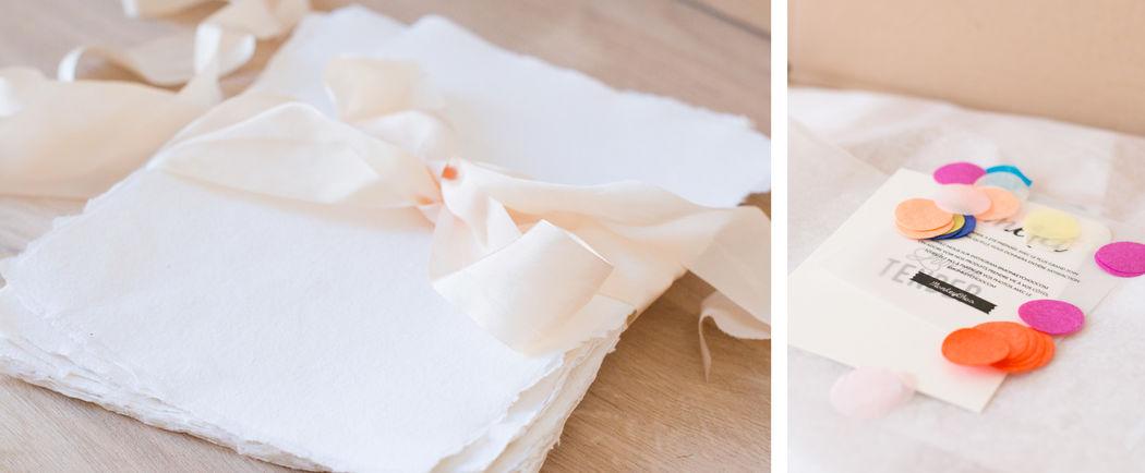 Papier et confettis