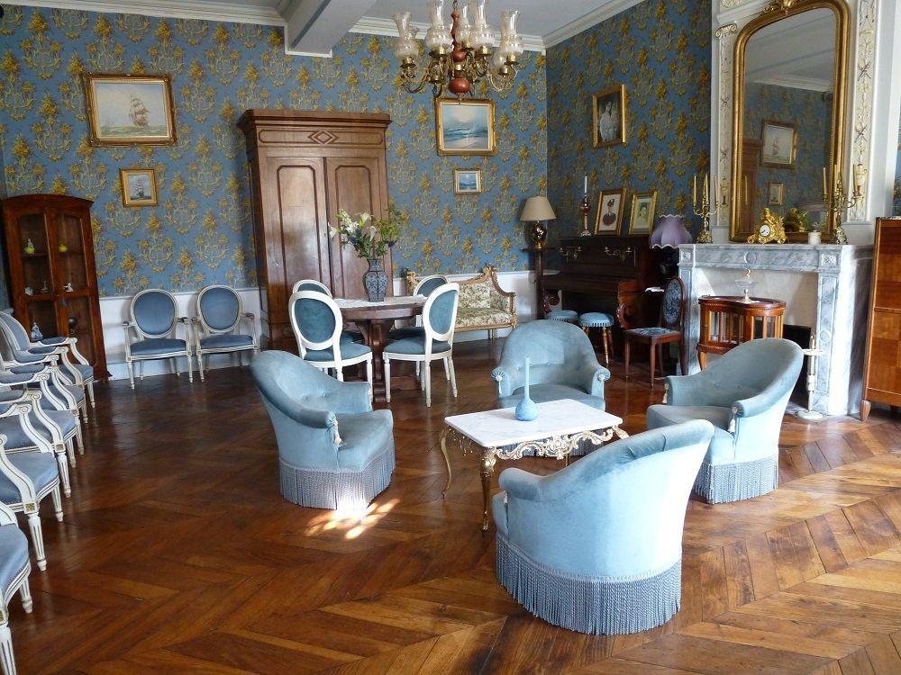Salon bleu du gîte