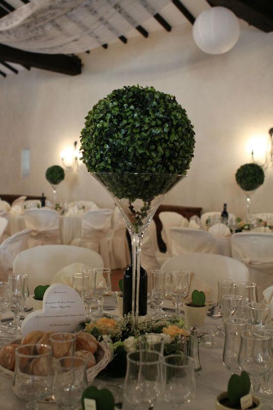 décoration mariage buis