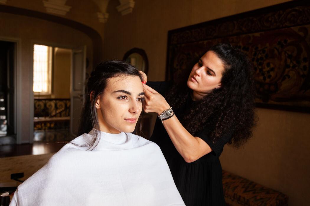 Sara De Capitani make-up & hair style