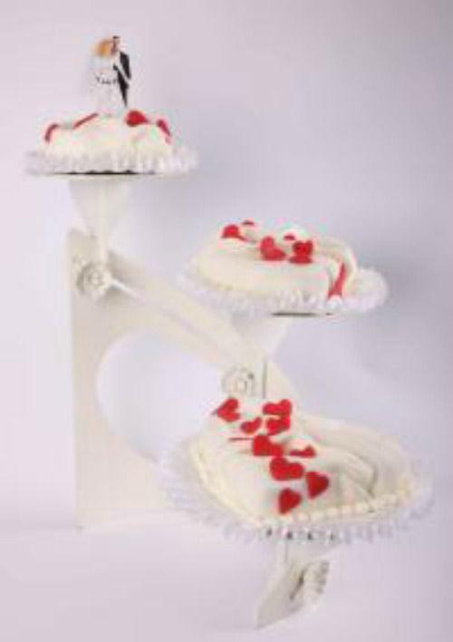 Beispiel: Hochzeitstorte: Herz Torte, Foto: Beck Lyner.