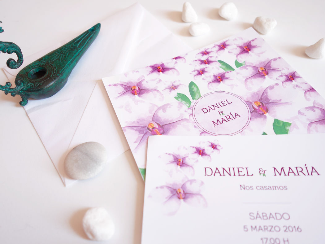 Invitación Boda Colección Orquídeas Rosa