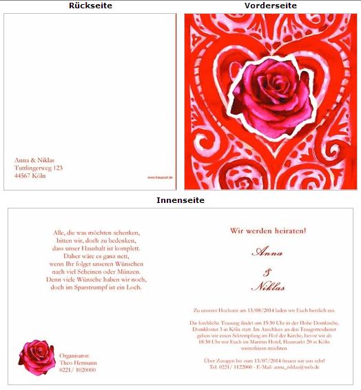 Hochzeitseinladungen von Traupost. Foto: