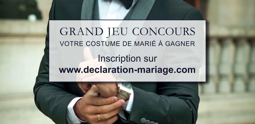 Déclaration-mariage Costume Marié
