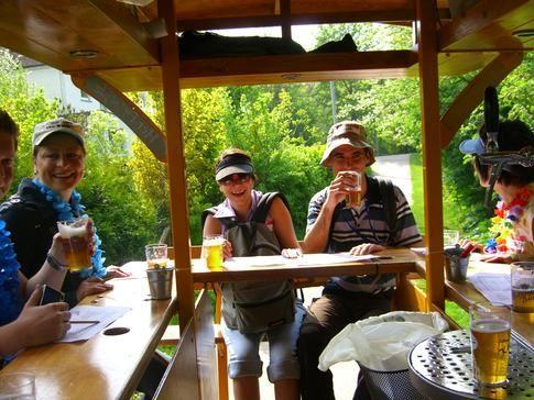 Beispiel: Spaß in der Gruppe, Foto: BierBike Ulm.