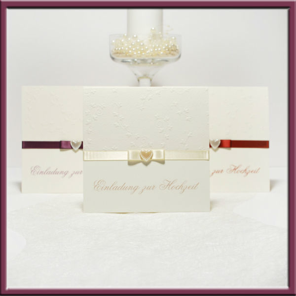Beispiel: Wunderschöne Kollektionen, Foto: Adam & Eva Hochzeitskarten.