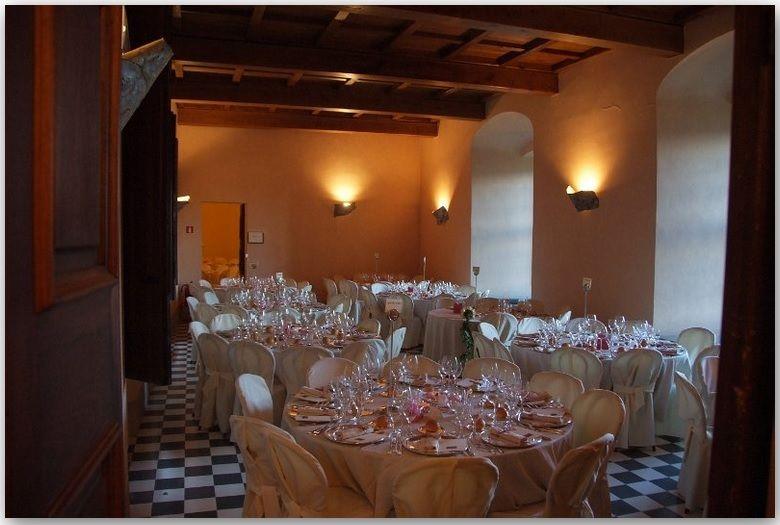 I romantici saloni del Castello dal Verme di Zavattarello