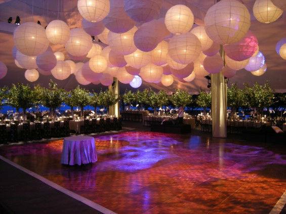 Ambientación con farolillos grandes pista de baile