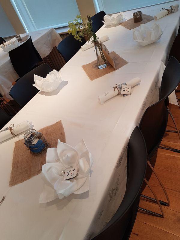 Déco de table mariage Islande