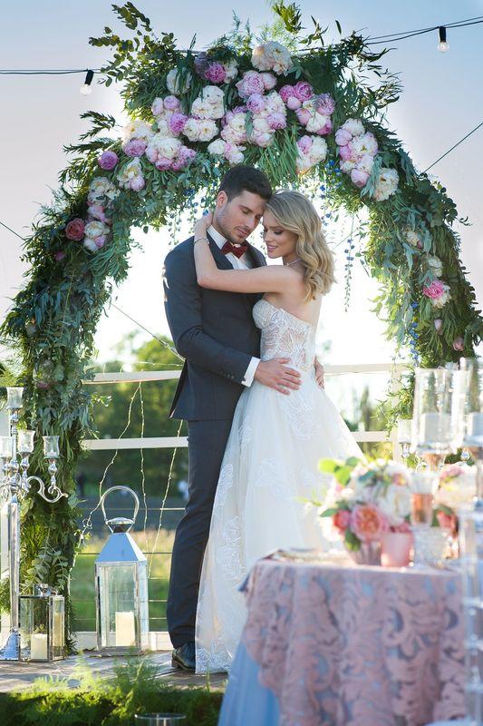 Scenografia do sesji WeddingShow fot. PGDstudio