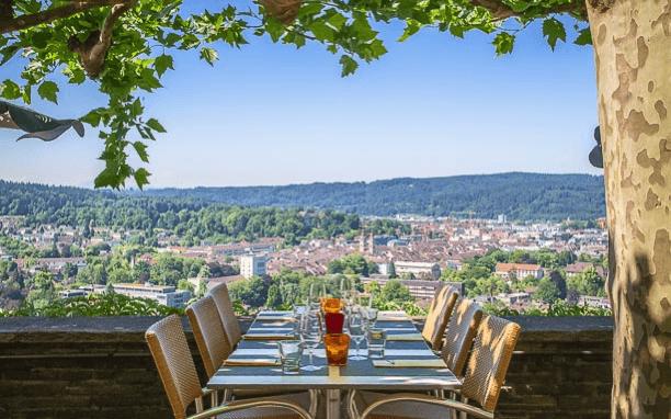 Beispiel: Terrasse, Foto: Restaurant Goldenberg.