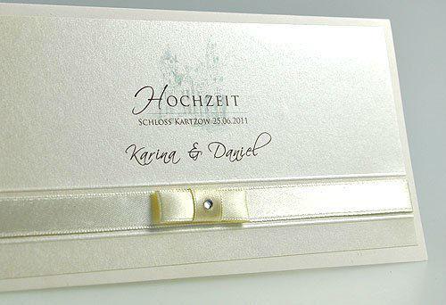 Beispiel: Hochzeitseinladung, Foto: BBFT-Atelier Manufaktur.