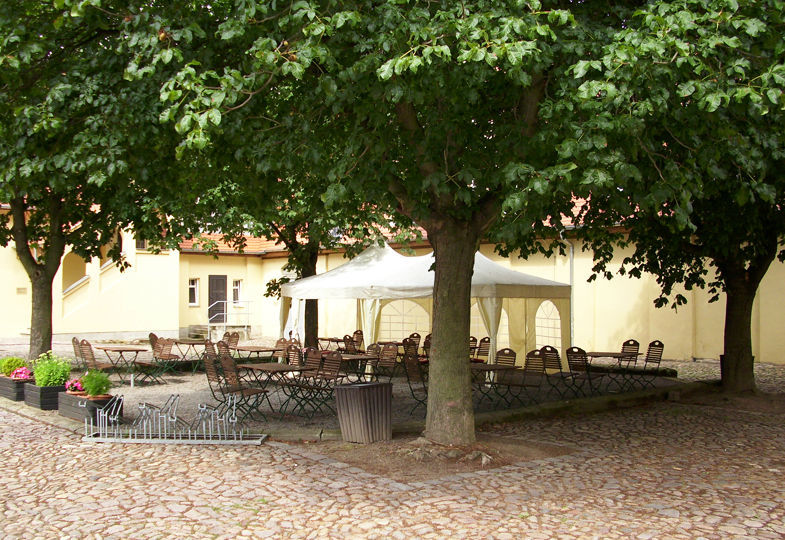 Schlosshof, Foto: Schloss Burgk.
