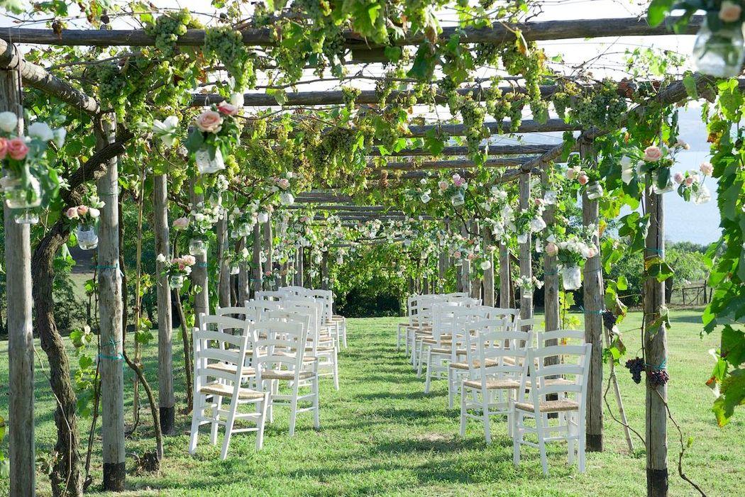 Allestimento cerimonia - Casale di Polline - Anguillara