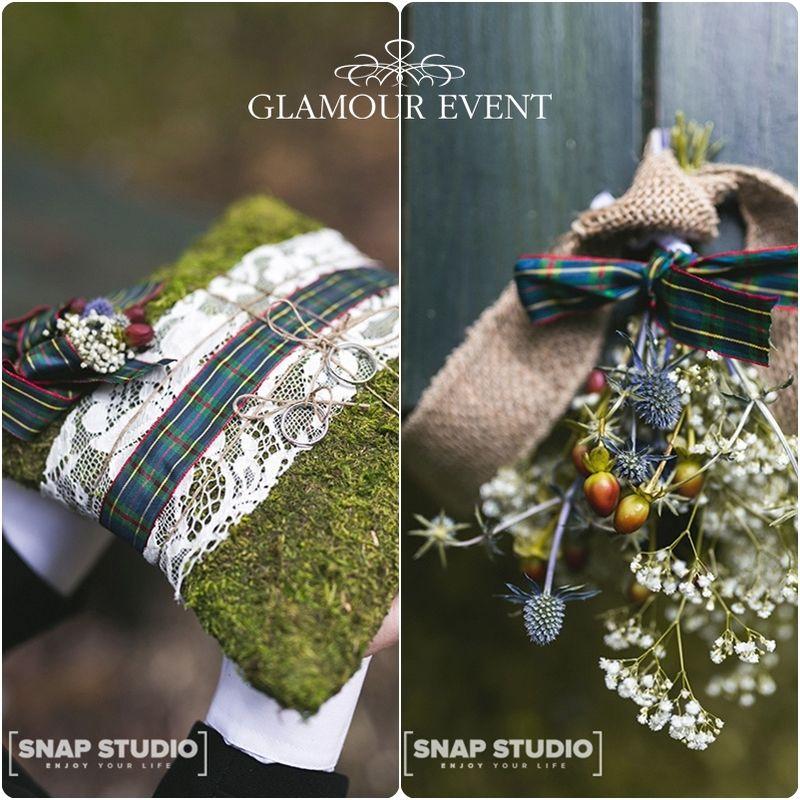 Florystyka ślubna w stylu rustykalnym. fot. Snap Studio Shot