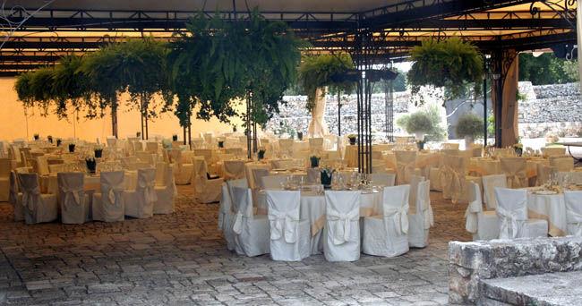 Allestimento tavoli - Barsentum Masseria fortificata